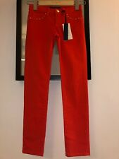 🎁Juicy Couture New & Genuine Girls Age 8 Red Trousers With Studs Juicy Logo