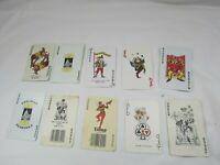 Lot 10 Jokers Playing Cards Joker Vintage Card 33248