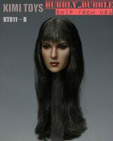 "KIMI KT011 B 1/6 Monica Female Head Sculpt For 12"" PHICEN Hot Toys Figure USA"