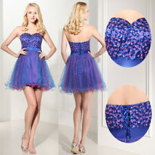 Short Beaded Homecoming Cocktail Ball Gown Girls Prom Graduation Dresses 2 4 6 8