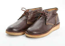 Mens FRYE Boots 10.5 in Bark Brown Grained Leather Chukka Boots Traction Rubber