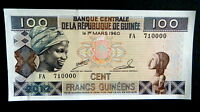 ★★ GUINEE ● RADAR / VARIETE ● BILLET DE 100 FRANCS 1998 P35 ● NEUF / UNC  ★★