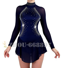 New Ice Figure Skating Dress Figure skaitng Dress For Competition Navy