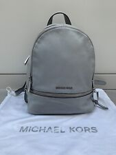 Genuine Michael Kors Medium Rhea Backpack Leather Dove Grey / Lilac