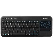Logitech Wireless Touch Black Keyboard K400 Unifying en castellano