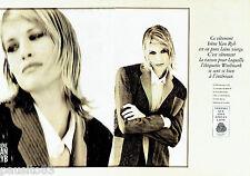 PUBLICITE ADVERTISING  016  1993  Irène Van Ryb  (2p)  pret à porter  woolmark