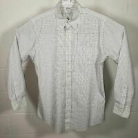 Brooks Brothers Mens Regent Oxford Shirt White Windowpane Non Iron Cotton 16 35