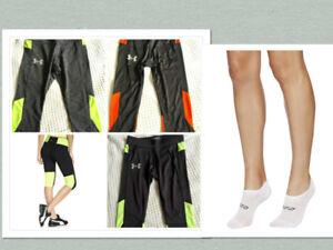 Brand New Under Armour Cropped Legging Sport Capri + Lorna Jane Sock RRP$71.98