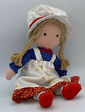 Vintage Holly Hobbie Friend Carrie American Greetings Rag Doll Knickerbocker 12""