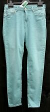 """UNITED COLORS OF BENETTON Ladies Green Tapered UK 29"""" Waist Jeans 97% Cotton"""