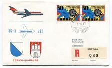 FFC 1967 Swissair Special Flight DC9 Jet Zurich Hamburg REGISTERED Liechtenstein