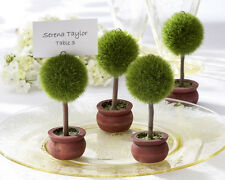 Topiary Tree Place Card Holders. Wood Base and Synthetic Top. Wedding FavoursH