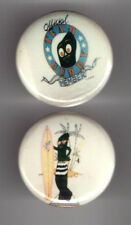 2 GUMBY  pin pinback Button Team Member Surfing