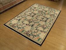 6 x 9 Hand Knotted Handmade High Quality Pak Aubusson Rug _Soft Silky Kork Wool