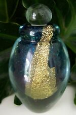 Large Eickholt Art Glass Perfume Bottle~Signed~2007~Gold Leaf~Mint~Awesome Gift
