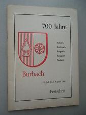 700 Jahre Burbach 1966 Burpach Burchpach Burgpach Burgpach Purbach Klosterdorf