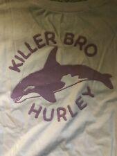 Brand New Hurley Men's Killer Bro Orca Whale Soft Premium Pink Pocket T-Shirt