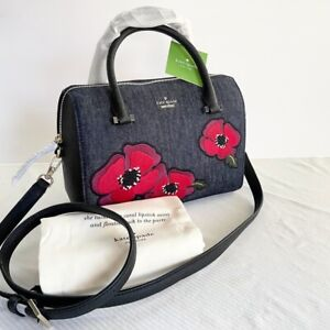 Kate Spade Cameron Street Large Lane Poppy Bag in PortBlue, Denim--NWT! $298MSRP
