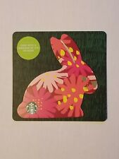 STARBUCKS Gift Card 2019 Die Cut Bunny Rabbit Floral Happy Easter No $ Value