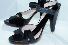 New Chloe Black Shoes Chic Sandals Size 8.5 Pumps Leather Kid Heels