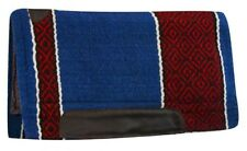 "36""x34"" Cutter Style Western Saddle Pad w/ BLUE & RED Diamond Design! NEW TACK!"