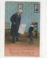 Say Pa You Must Be A Pretty Strong Man [Bamforth 1700] 1910 Postcard 833a