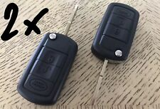 2x Land Rover Remote Key Shell Keyless Case LR3 Range Sport Discovery 3 Button