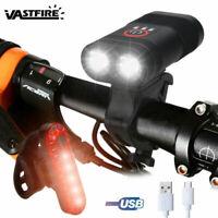 6000LM 2xT6 Fahrrad LED Beleuchtung Fahrradlicht Scheinwerfer mit USB 18650 Akku