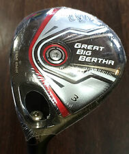NEW!! LH Great Big Bertha 3 Wood 15* A Flex