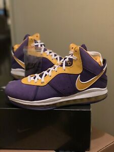 Nike Lebron 8 Lakers, Confirmed Order - DC8380-500, Sz 12.5, 100% Authentic!