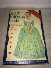 Vintage 60s Platt & Munk Paper Dolls Early American Years Push Out & Dress