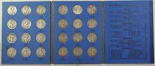1937-47 COMPLETE Whitman Folder Walking Liberty Half Dollar Set 24 Coins Total