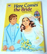 Here Comes the Bride Coloring Book Paper Dolls Whitman 1979 Unused