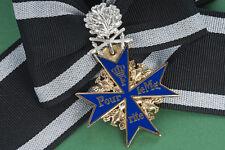 Ritterkreuz Pour Le Merite + silbernem Eichenlaub mit Schwertern 800 u. L/21