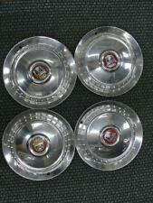 """1954 FORD KNOCK OFF 15"""" HUBCAPS ORIGINAL THUNDERBIRD COMPLETE SET"""