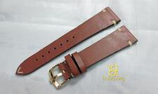 Handmade Vintage BROWNISH genuine calf leather strap 20mm fits Rolex buckle