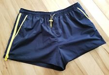 HUNTER for Target Blue Yellow Side Zip Athletic Shorts Women's Size Large