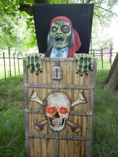 ANIMATED LIFESIZE PIRATE ZOMBIE JACK in the BOX HALLOWEEN PROP - MOVES - TALKS!
