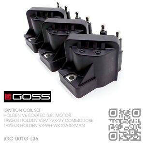 GOSS IGNITION COIL SET V6 ECOTEC 3.8L [HOLDEN VS-VT-VU-VX-VY COMMODORE/UTE]