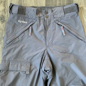 The North Face Hyvent Ski Snow Pants Men's Small Gray Adjustable Waistband