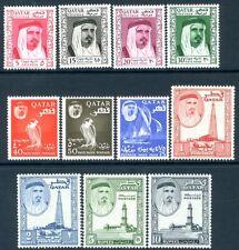 QATAR-1961 Set to 10r Sg 27-37 LIGHTLY MOUNTED MINT V18990