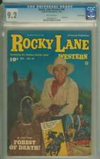 ROCKY LANE WESTERN #44 CGC 9.2 OW PAGES (CROWLEY)