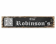 SP0464 The ROBINSON'S Family name Plate Sign Bar Store Cafe Home Chic Decor