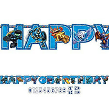 Skylanders HAPPY BIRTHDAY party jumbo LETTER BANNER add an age 10 1/2 feet long