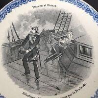 Assiette Alliance France Russie Franco Russe RUSSIA XIXè