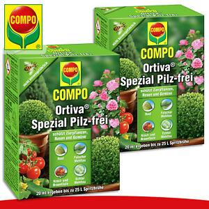 COMPO 2 x 20 ml Ortiva® Spezial Pilz-frei Mehltau Rost Krautfäule Schutz Garten