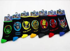 7 Pairs Mens Cotton Socks Warm The Avengers Super Hero Casual Dress Socks 9-12