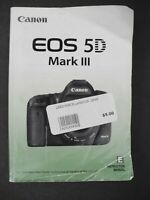 #4 Canon EOS 5D Mark III Genuine Camera Instruction Book / Manual / User Guide