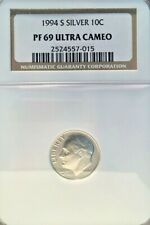 1994-S SILVER ROOSEVELT DIME GRADED PF 69 ULTRA CAMEO BY NGC