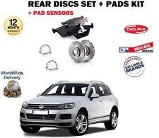 Per VW TOUAREG TDI TSI FSI 2010 -- > DISCHI FRENO POSTERIORE SERIE PASTIGLIE + KIT + Pad sensori